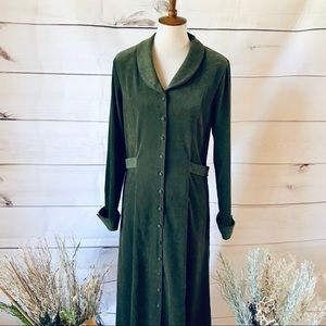 Vintage David Warren Long Button Front Dress